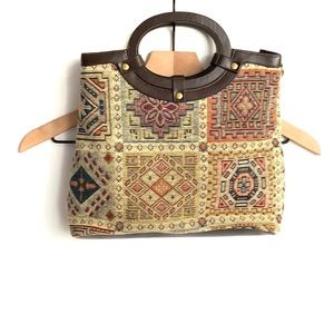 Vintage Relic tapestry embroidered boho purse